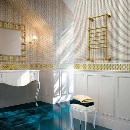 Hydraulischer Handtuchwärmer Scirocco H Amira aus Messing goldfarben made in Italy