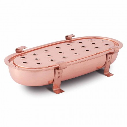 Tisch Chafing Dish für Kupfertöpfe Made in Italy 45x23 cm - Mariaelena
