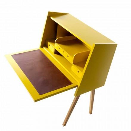 Design mehrbeschichtigter Holzschreibtisch Grilli Hemingway made in Italy