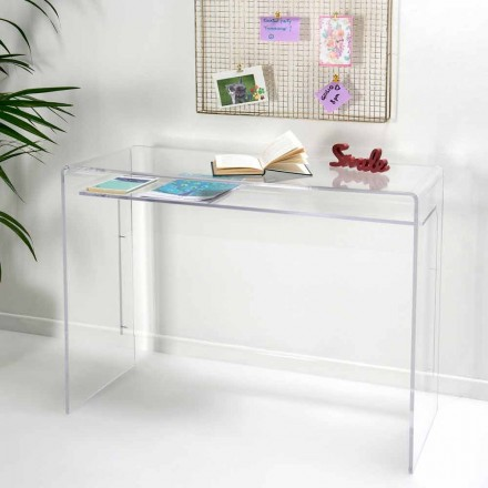 Moderner Schreibtisch aus transparentem Plexiglas, hergestellt in Italien, Barga