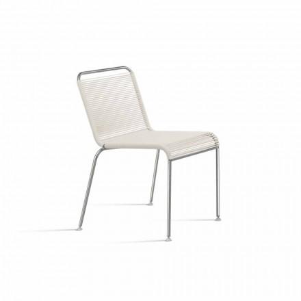 Outdoor Design Stuhl aus Stahl und PVC Made in Italy - Madagaskar