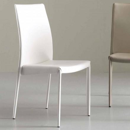 Vollbesetzter Stuhl aus Leder, Modern - Eloisa