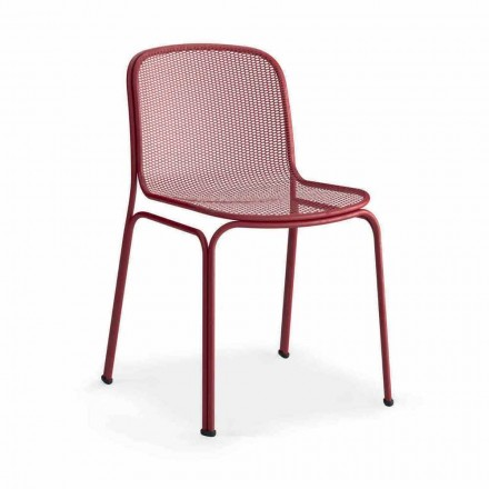 Stapelbarer Metallstuhl im Freien Hergestellt in Italien, 4 Stück - Prunella