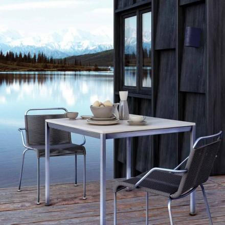 Outdoor Stahlstuhl mit Armlehnen und Kordel Made in Italy - Madagaskar2