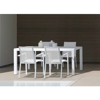 Außenstuhl aus Aluminium mit Armlehnen von Homemotion - Casper Design