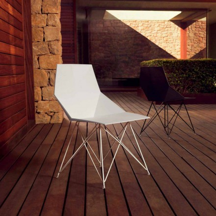 Moderner Stuhl Faz Kollektion Vondom, Polypropylen und Edelstahl, 4 Stück