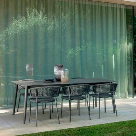 Moon Alu Talenti Gartenstuhl aus Aluminium und Kunststoffseil