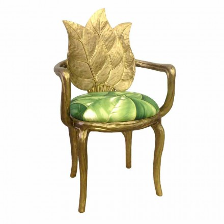 Gepolsterter goldfarbener Esszimmer Stuhl,modernes Design Italy Daniel