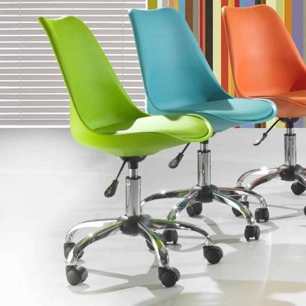 Bürostuhl aus farbigem Polypropylen und Metall - Loredana