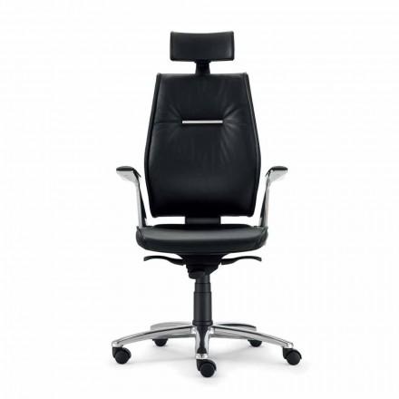 Bürostuhl ergonomisch aus Leder Ines