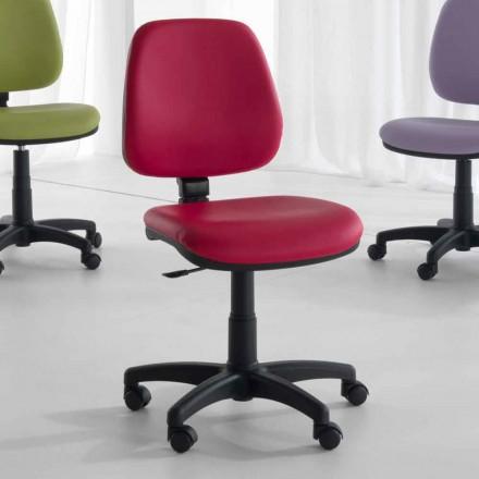 Drehbarer und ergonomischer Bürostuhl aus Gewebe und Kunstleder - Danila