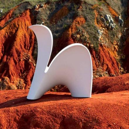 Design Stuhl für drinnen oder draußen aus farbigem Kunststoff 2 Stück - Lily von Myyour