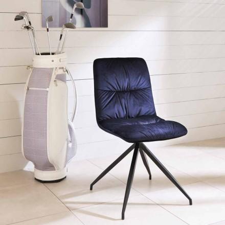Esszimmerstuhl in modernem Design mit Stoffbezug - Chiara