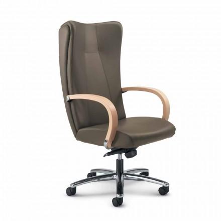 Chefsessel Bürostuhl aus echtem Leder in modernem Design