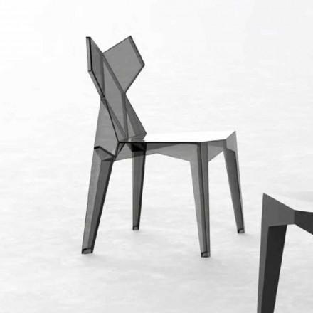 Stapelbarer Designstuhl für den Außenbereich aus Polycarbonat, 4 Stück - Kimono von Vondom