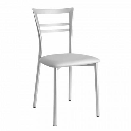 Gepolsterter moderner Design-Küchenstuhl Made in Italy,2 Stücke - Go