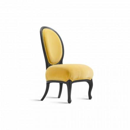 Gepolsterter Stuhl aus schwarzem Holz, 60x51 cm, Tati