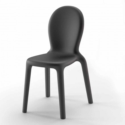 Stapelbarer Stuhl aus farbigem Polyethylen Hergestellt in Italien, 2 Stück - Jamala