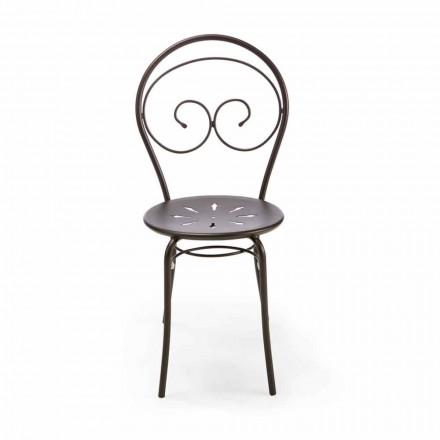 Stapelbarer Gartenstuhl aus Metall Made in Italy, 2 Stück - Autorität