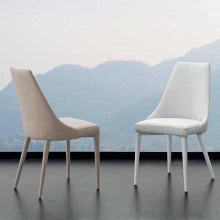 Stuhl aus Metall und Kunstleder Nepitella