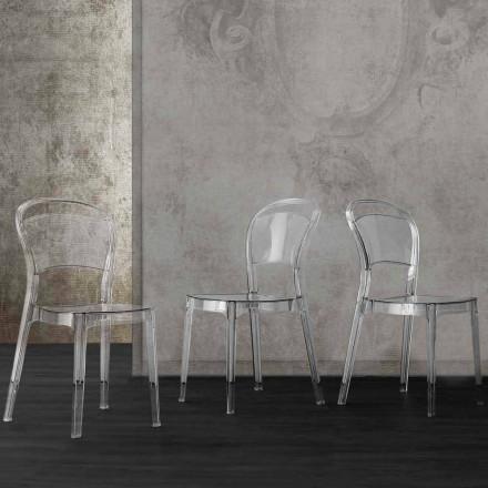 Stuhl aus transparentem Polycarbonat, in modernem Design Ferrara