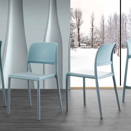 Stuhl aus Harz und Glasfaser in modernem Design Ravenna