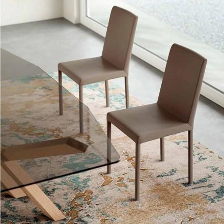 Design Stuhl aus Kunstleder made in Italy, Soliera