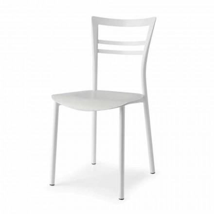 Living Design Stuhl aus Metall und mehrschichtigem Holz Made in Italy - Go