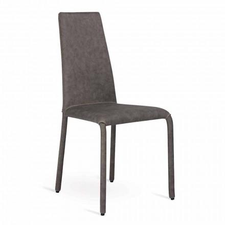 Design Stuhl aus Kunstleder in Italien hergestellt, Gazzola