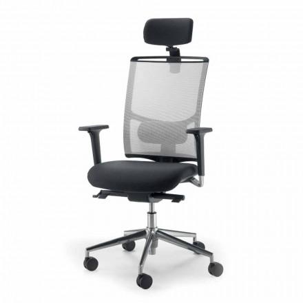 Directional regelbarer Bürostuhl aus Stoff in Italien hergestellt Mina