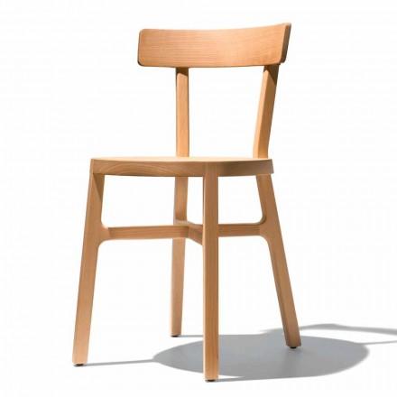 Stuhl für Küche oder Esszimmer aus massiver Buche Made in Italy - Cima