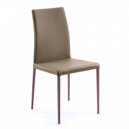 Design Stuhl für Esszimmer, hergestellt aus Kunstleder, Abbie