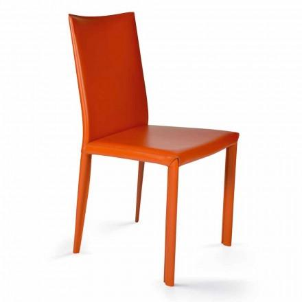 Moderner Designstuhl für Esszimmer H. 88,5 cm, Afrika made in Italy