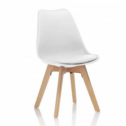 Esszimmerstuhl aus PVC und Holz mit Kunstledersitz, 4 Stück - Fachwissen