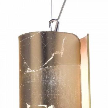 Selene Papiro moderne Pendelleuchte in Kristall Ø15 H 125cm