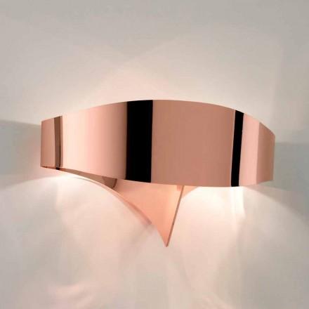 Selene Scudo Wandleuchte, galvanisch, modernes Design made in Italy