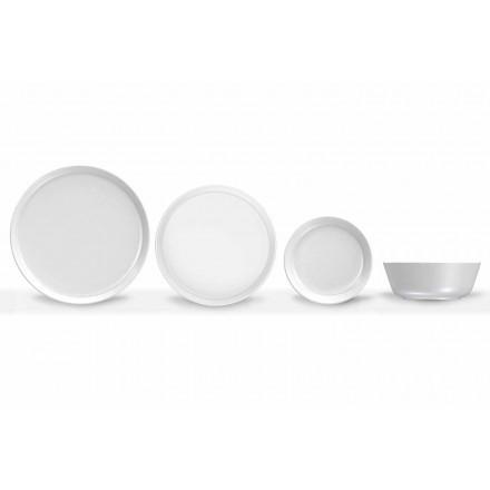Weißes modernes Design Porzellan Dinner Set 24 Stück - Arktis