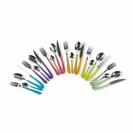 Service von farbigem Besteck 24 Stück in Stahl- und Kunststoffdesign - Algerien