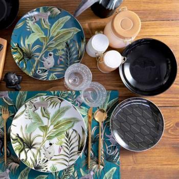18-teiliger Service für farbiges Porzellan und Steinzeug aus modernem Geschirr - Antananarivo