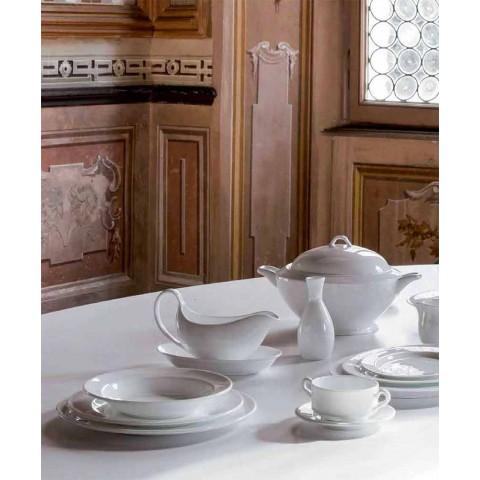 4-teilige Servierteller aus weißem Designer-Porzellan - Samantha
