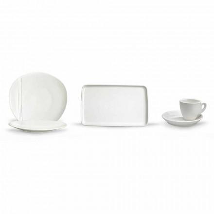 Moderne Porzellan Aperitif Gerichte Set 36 Stück - Nalah