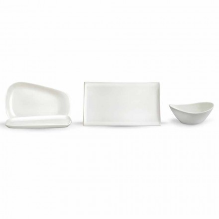 Servierteller zum Mittagessen oder modernes Porzellan 14 Stück - Nalah