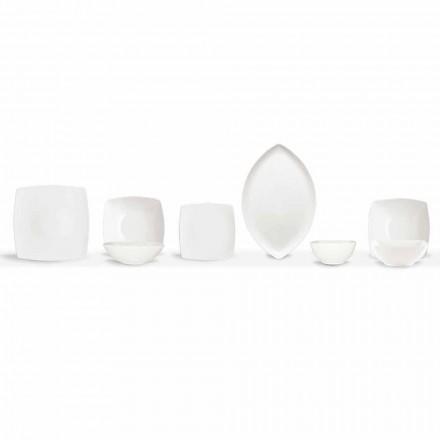 White Dinner Plates Service Square und modernes Design 26 Stück - Usima