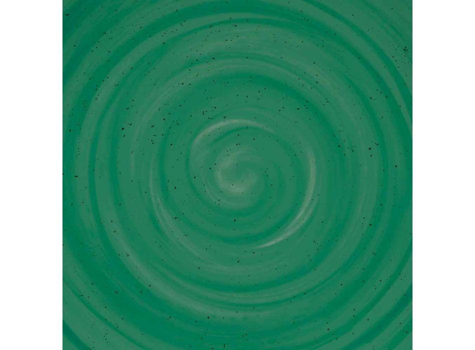 18 Stück Porzellan farbiger und moderner Teller Teller Service - Rurolo