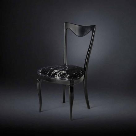 Stuhl im 2er Set mit Samt-Stoffbezug Frida