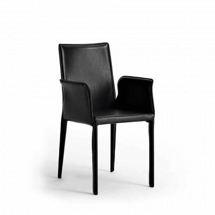 Stuhl mit Stahlkonstruktion aus Leder - Modernes Design Jolie
