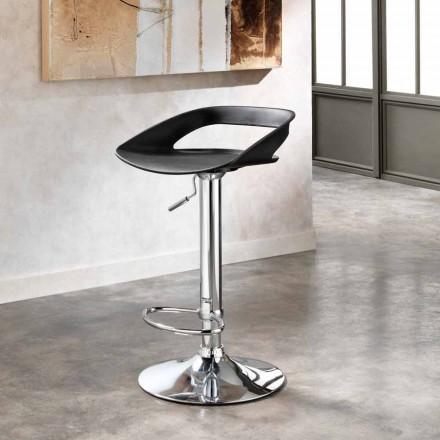 Hocker aus Metall und PVC im 2er Set in modernem Design Aldo