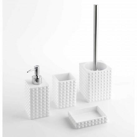 Modernes Badezimmerzubehör aus weißem Harz oder Sandperlen