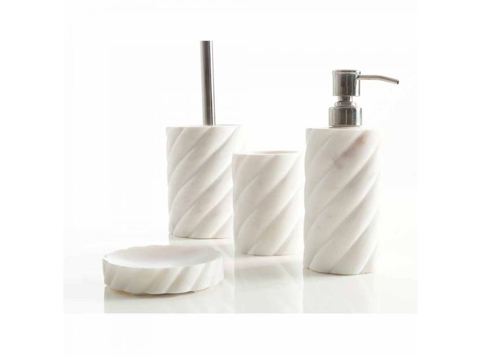 Badezimmer-Design-Accessoires aus Marmor von Calacatta Monza