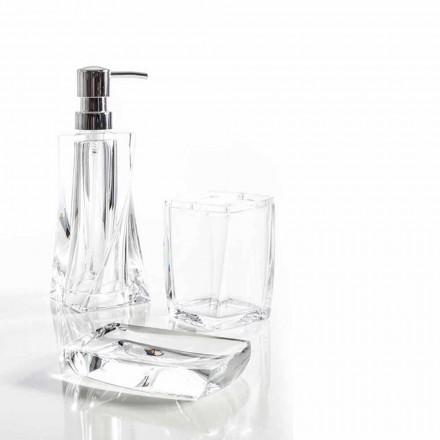 Modernes Set für Badspender, Glas, Seifenhalter Torraca